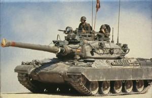 Tanque AMX-30 del Ejército español