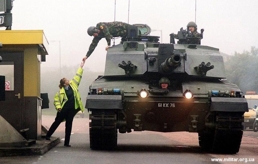 Tanque Challenger-2 del ejército británico.