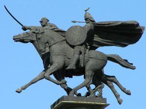 Monumento a la caballería polaca en Varsovia