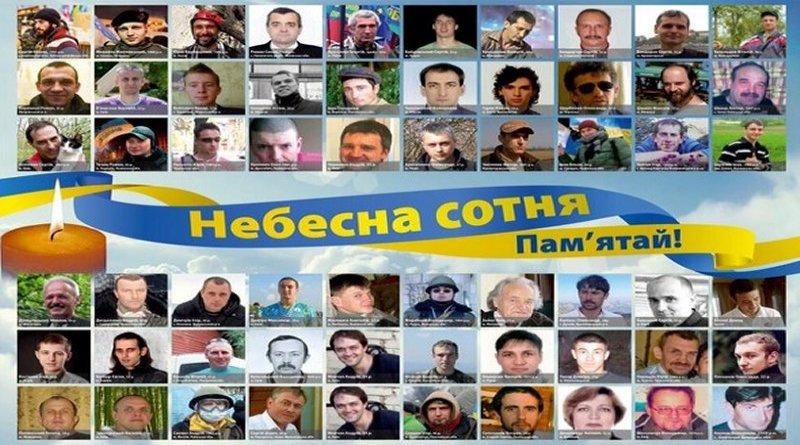 Ucrania, fotos de los Heroes de la Centura Celestial, caídos en de Euromaidan