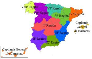 Regiones militares de España en 1960