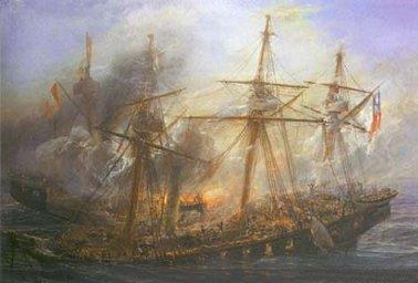 Combate naval de Iquique. 21 de mayo de 1879