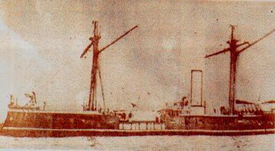 Monitor Huascar de la Marina peruana, al estallar la Guerra del Pacifico