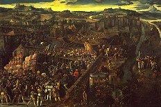 La Batalla de Pavia, oleo de pintor flamenco